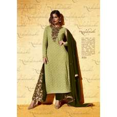 3036 PISTA GREEN NAKKASHI GOLD DUST WEDDING WEAR SUIT