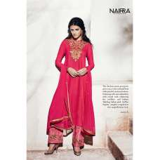 1001-A FUCHSIA PINK NAIRRA BY NAKKASHI PARTY WEAR SUIT