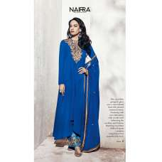 1001-B ROYAL BLUE NAIRRA BY NAKKASHI PARTY WEAR SUIT