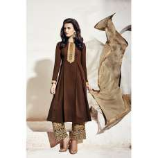 1003-B BROWN NAIRRA BY NAKKASHI PARTY WEAR SUIT