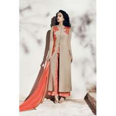 1004-B BEIGE NAIRRA BY NAKKASHI PARTY WEAR SUIT