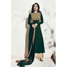 1007-A GREEN AND BEIGE NAIRRA BY NAKKASHI PARTY WEAR SUIT