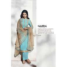1008-B SKY BLUE NAIRRA BY NAKKASHI PARTY WEAR SUIT
