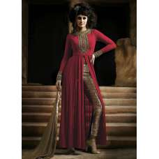 NAKKASHI 3021A ORIGINAL RED COLOUR DESIGNER PARTY WEAR SUIT