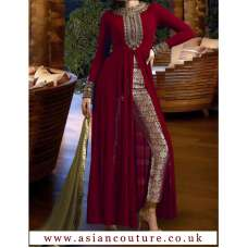NAKKASHI R3021A  MASTER REPLICA MAROON COLOUR PARTY WEAR SUIT