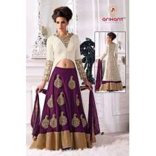 A0001 Purple Arihant Wedding wear Lengha Dress
