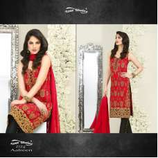 2124 RED AND BLACK AAFREEN YOUR CHOICE EMBOIDERED PAKISTANI STYLE SUIT