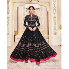 001 F BLACK AASHIRWAD WEDDING WEAR ANARKALI DRESS