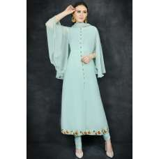 Sky Blue Indian Churidaar Style Suit