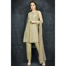 Gold Jacket Style Desi Readymade Suit