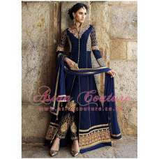 NAVY BLUE AAFREEN ADAA STYLISH ANARKALI SUIT (REPLICA)