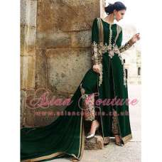 8007 GREEN AAFREEN ADAA STYLISH ANARKALI SUIT (REPLICA)