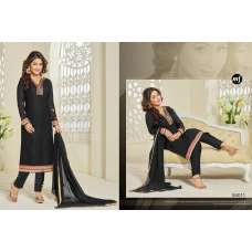 84011 BLACK MF AKSHINA  READY MADE EMBROIDERED CHURIDAAR SUIT