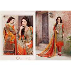 19005-b Beige and Orange Alizeh Woolen Embroidered Winter Wear Suit