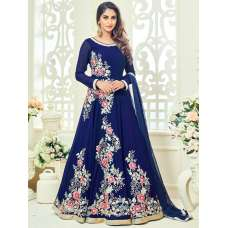 18012 BLUE ROSSELL ARIHANT FLORAL EMBROIDERED ANARKALI SUIT