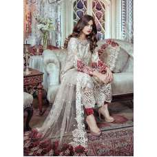 MARIA B BD-1108 STYLE BEIGE AND MAROON EMBROIDERED READY MADE SUIT ( 1 Week Delivery)