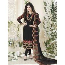 901-A BLACK AVON FASHIONISTA AYESHA TAKIA PARTY WEAR GEORGETTE SUIT (2 Weeks Delivery)