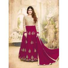 Zareen Kahn Pink and Beige Royal Anarkali Suit