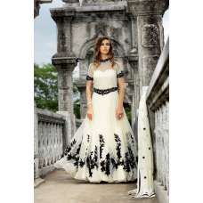 WHITE BELA INDO WESTERN STYLE INDIAN GOWN