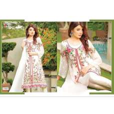17007 WHITE BAROQUE 2 BY DEEPSY GEORGETTE PAKISTANI STYLE SUIT