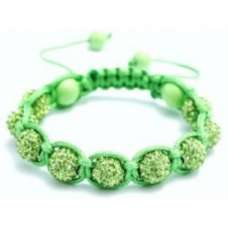 GREEN CRYSTAL BALL BRACELET