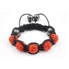 ORANGE CHILDREN CRYSTAL BALL BRACELET