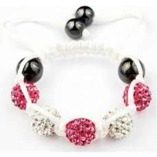 CUTE PINK AND SILVER CHILDREN BALL BRACELET FOR A LITTLE PRINCESS