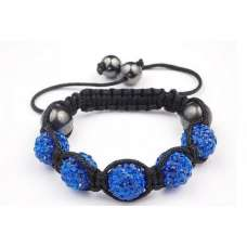 DARK BLUE CHILDREN CRYSTAL BALL BRACELET