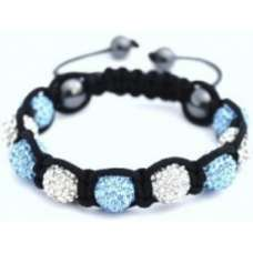 BLUE AND WHITE CHILDREN CRYSTAL BALL BRACELET