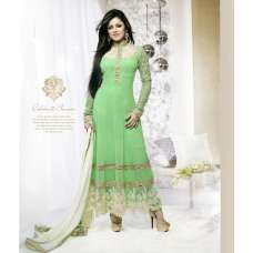 40001 GREEN FLASH GEORGETTE ANARKALI SALWAR KAMEEZ SUIT