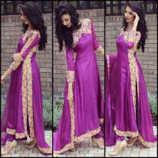 BEST SELLER 11058 PURPLE ME VOGUE EMPRESS STYLISH EMBRIODERED SUIT