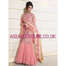 BESTSELLER Z-12001- ORIGINAL PINK ZOYA WEDDING WEAR LENGHA DRESS( 4 PIECE SUIT)