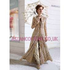 Z-12003 ORIGINAL BEIGE ZOYA WEDDING DRESS (5 Piece suit)