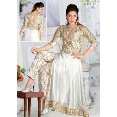 MS150B WHITE COLOUR MAISHA MASKEEN GAUHAR KHAN SALWAR KAMEEZ SUIT