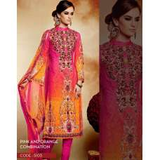 Pink and Orange Heer 2 By Kimora Party Wear Designer Dress
