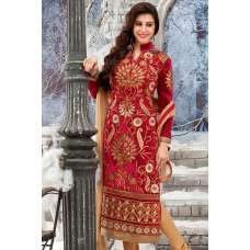 Red RIVAA DESIGNER VELVET DRESS