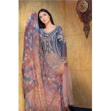 SANOBAR 2024 PINK AND BLUE PREMIUM GEORGETTE PAKISTANI STYLE SUIT