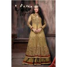 GOLD INDIAN DESIGNER BRIDAL WEDDING SUIT