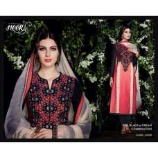 5308 Red, Black And Cream Combination Heer Designer Suit