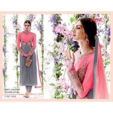 5309 Lilac Gray And Pink Heer Designer Suit