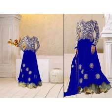 Blue Georgette Floor Length Anarkali Dress