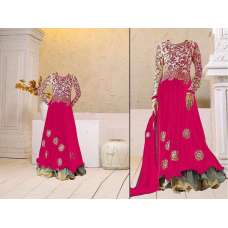 Pink Georgette Floor Length Anarkali Dress