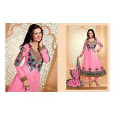 Rose Quartz Pink Zisa Designer Party Anarkali Suit