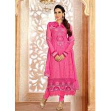 Pink KARISHMA GEORGETTE LONG LENGTH STRAIGHT SUITS
