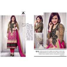 Gold and Pink NEHA SHARMA TAJIMA 3 PARTY WEAR GEORGETTE SALWAR SUIT