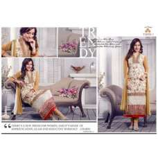 White and Gold NEHA SHARMA TAJIMA 3 PARTY WEAR GEORGETTE SALWAR SUIT