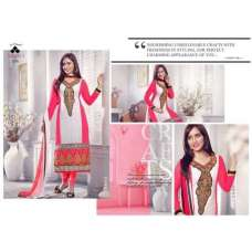 White and Pink NEHA SHARMA TAJIMA 3 PARTY WEAR GEORGETTE SALWAR SUIT