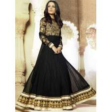 Black AAFREEN PARTY WEAR GEORGETTE ANARKALI LONG DRESS