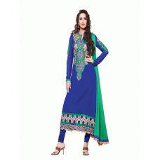 Blue AAFREEN PARTY WEAR GEORGETTE CHURIDAR SHALWAR SUIT