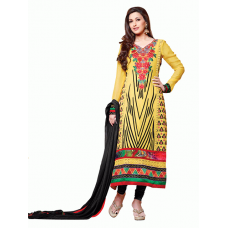 Buttercup Yellow AAFREEN PARTY WEAR GEORGETTE CHURIDAR SHALWAR SUIT